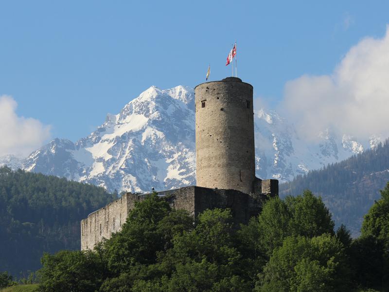 La Bâtiaz - Le château médiéval