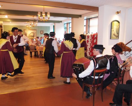 Folklore im Hotelrestaurant Alpes&Rhone.
