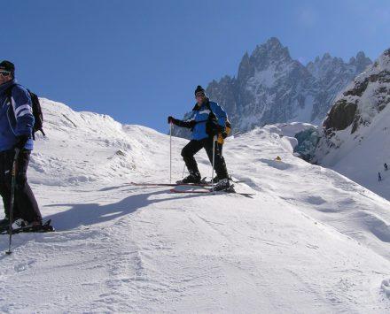 slope descent aguille de midi Chamonix
