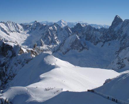 panoramic view mont blanc