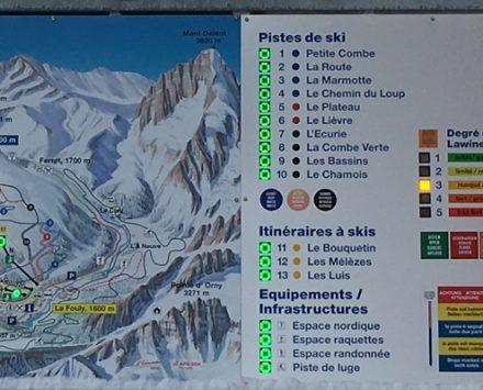 Piste map La Fouly