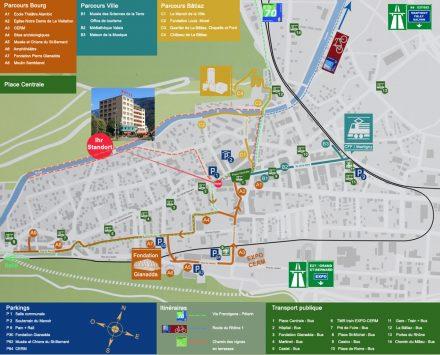Stadtplan Martigny