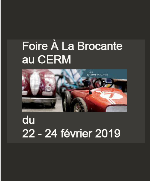 22. bis 24. Februar 2019: Foire A La Brocante - CERM Martigny
