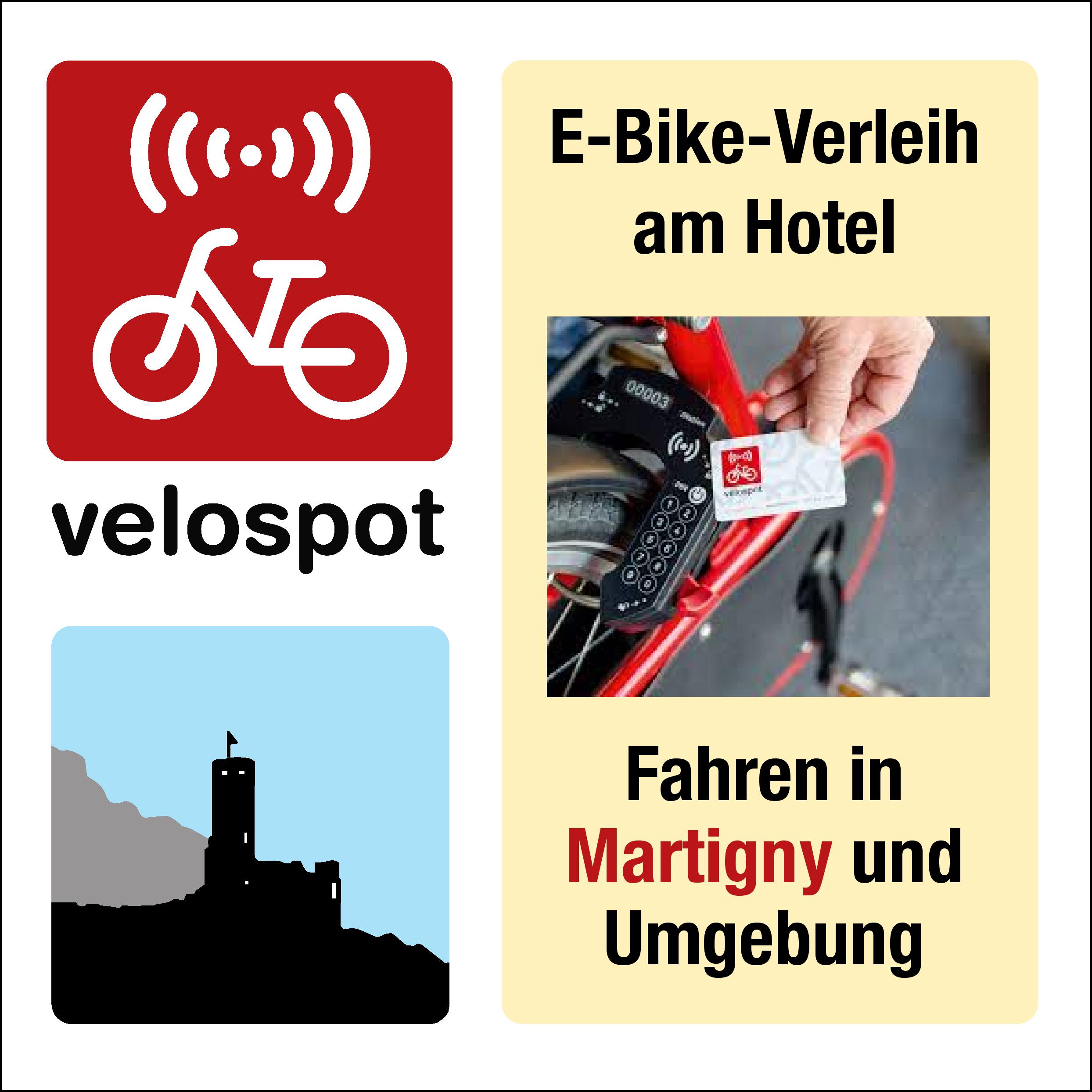 VELOSPOT  E-Bike Verleih vor dem Hotel
